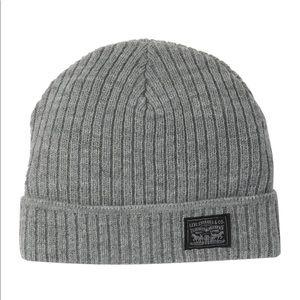 Levi's Grey Woven Label Knit Beanie